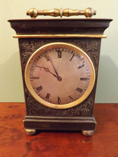 c19th french bronzecased carriage clock