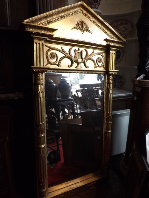 c19th baltic empire design giltwood pier mirror