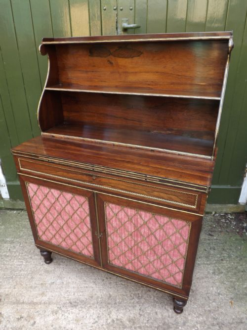 c19th regency period rosewood secretaire chiffonier