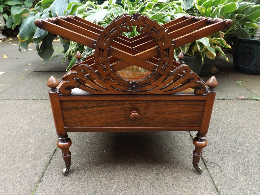 c19th william iv period rosewood canterbury