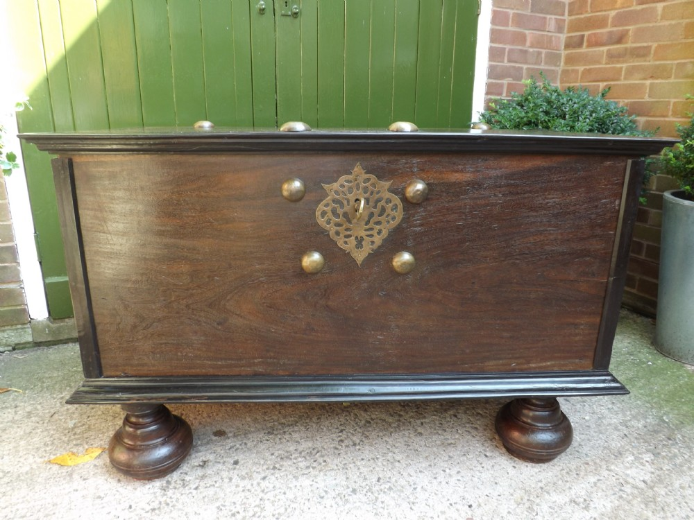 fine c18th dutch colonial palisander and ebony bronzemounted chest