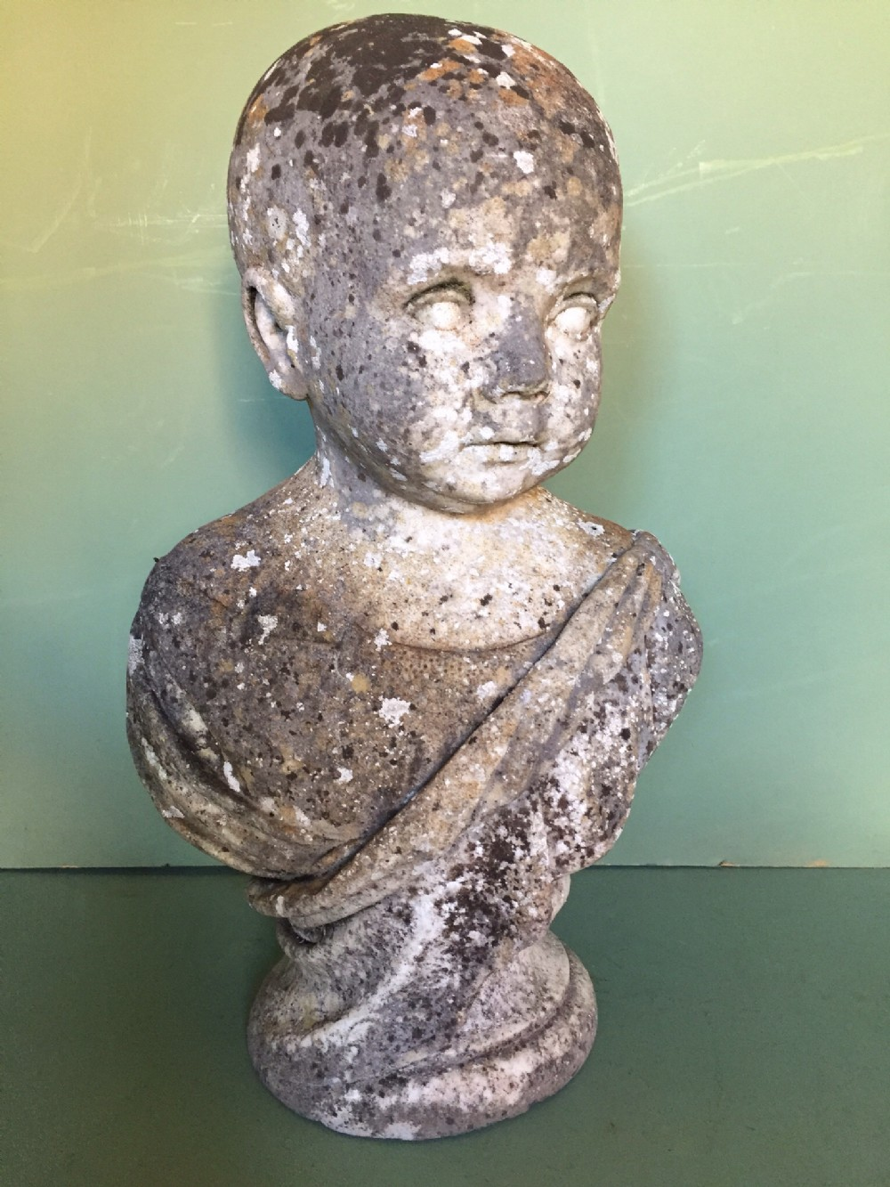 late c18thearly c19th carved marble bust study of child