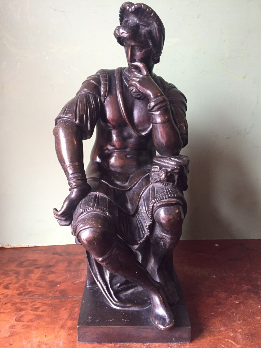 c19th italian bronze 'grand tour' souvenir statue of lorenzo de medici