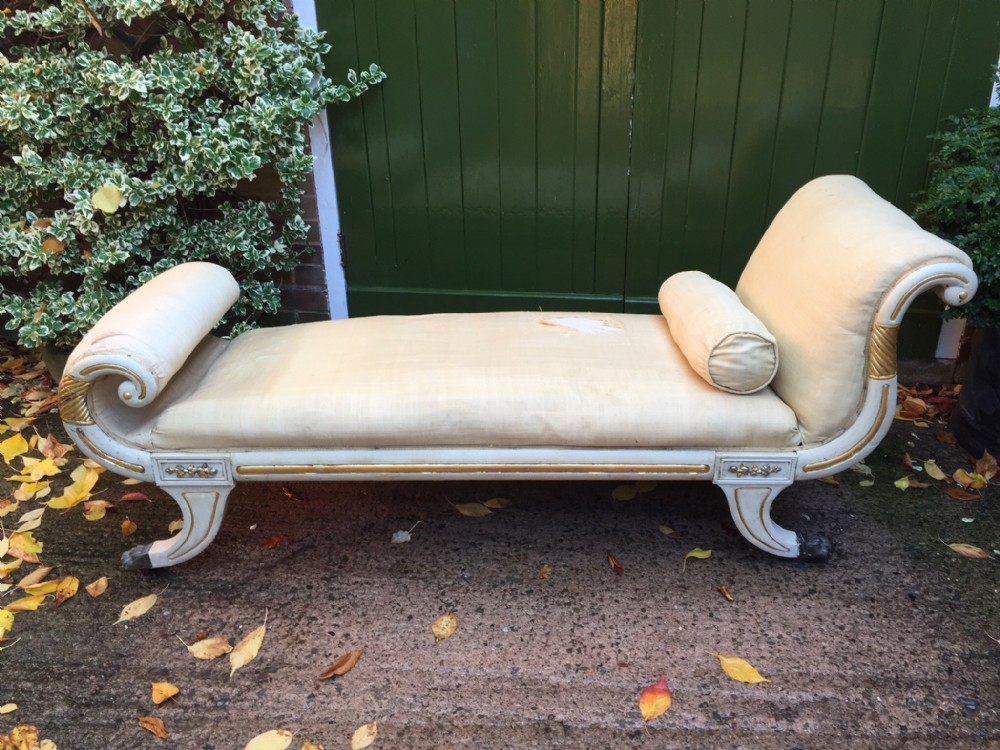 early c19th regency period scrollend daybed