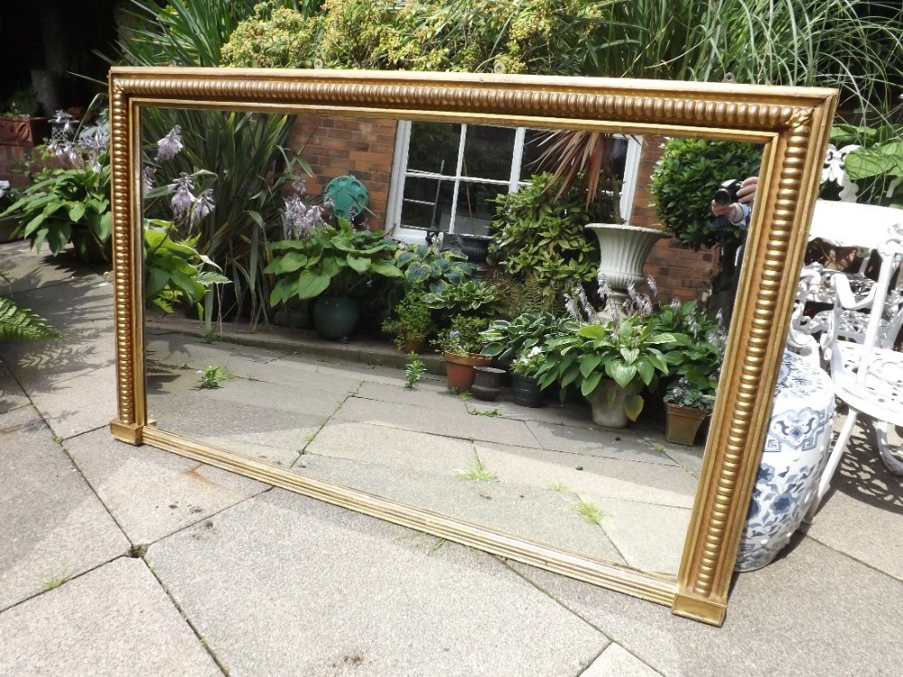 early c19th regency period giltwood overmantel mirror