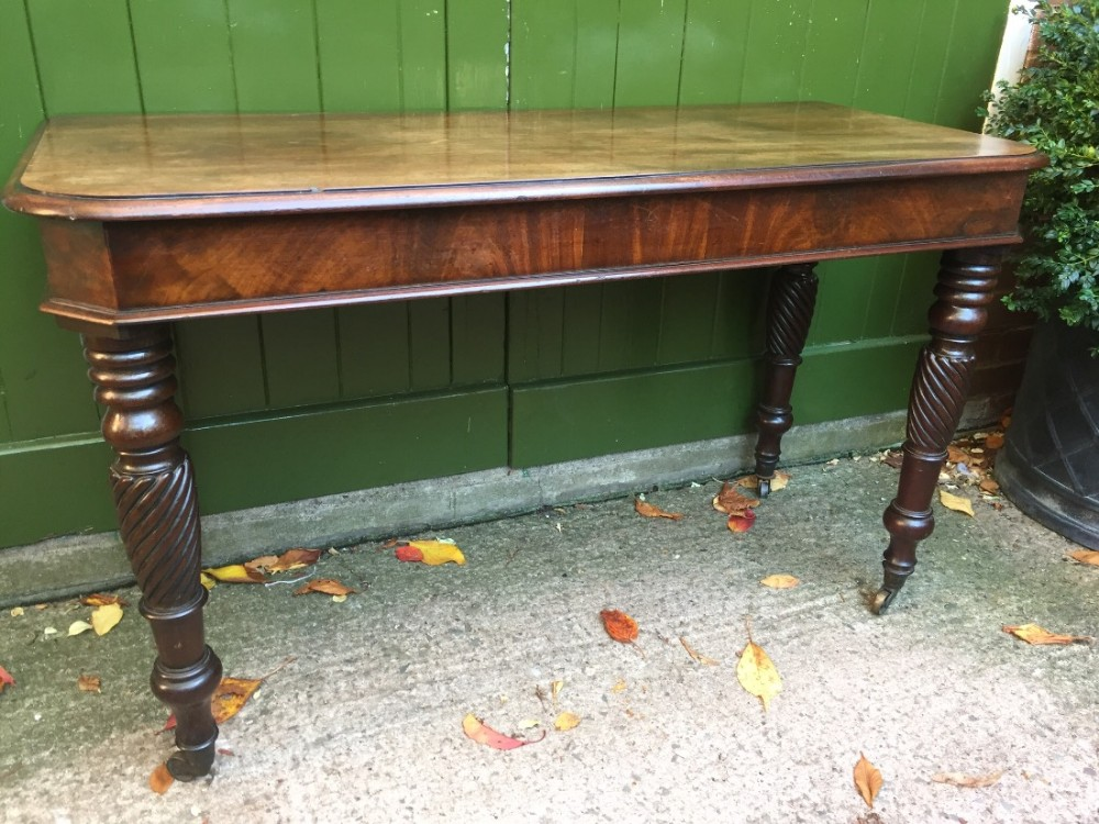 early c19th george iv period side table of outstanding colour and patina