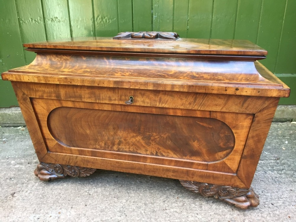 fine quality early c19th regency period mahogany wine cellarette