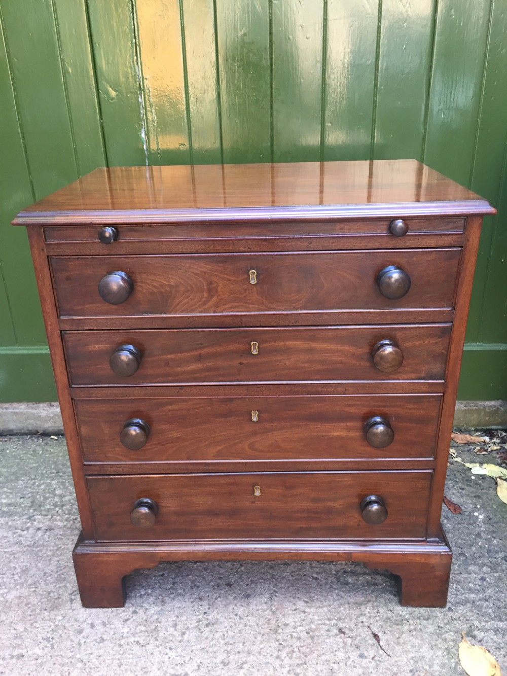 neat c19th mahogany chest of drawers of late c18th design