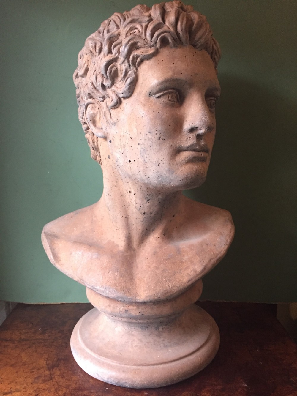 late c19thearly c20th terracotta classical bust study of a young man probably an athlete