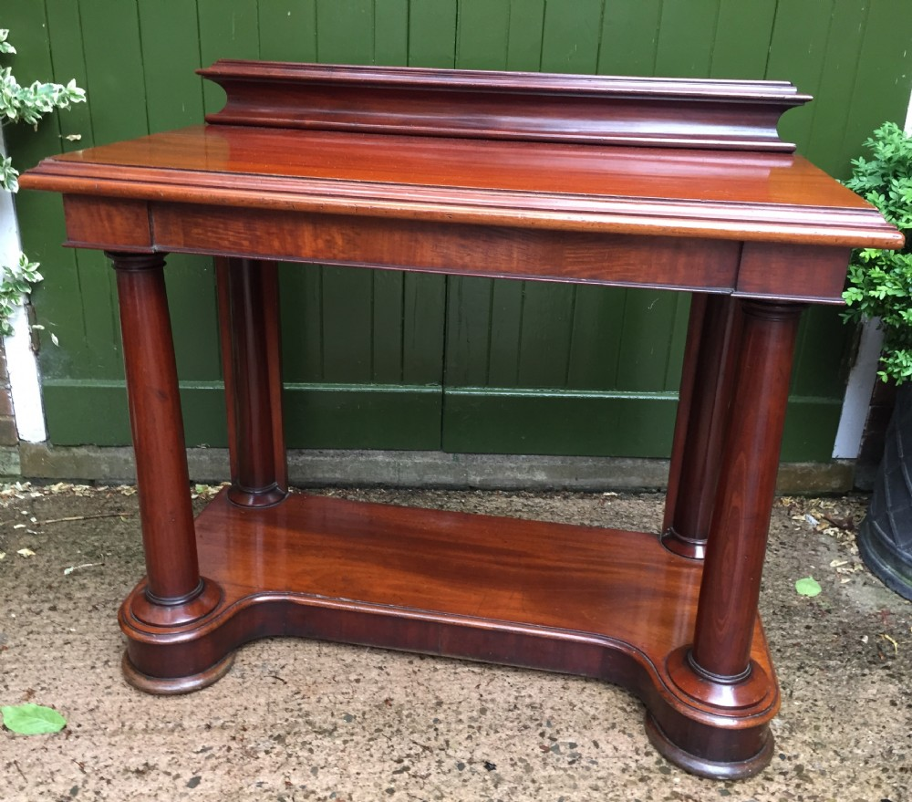 early c19th william iv period mahogany console or hall table of classical empirical architectural inspiration