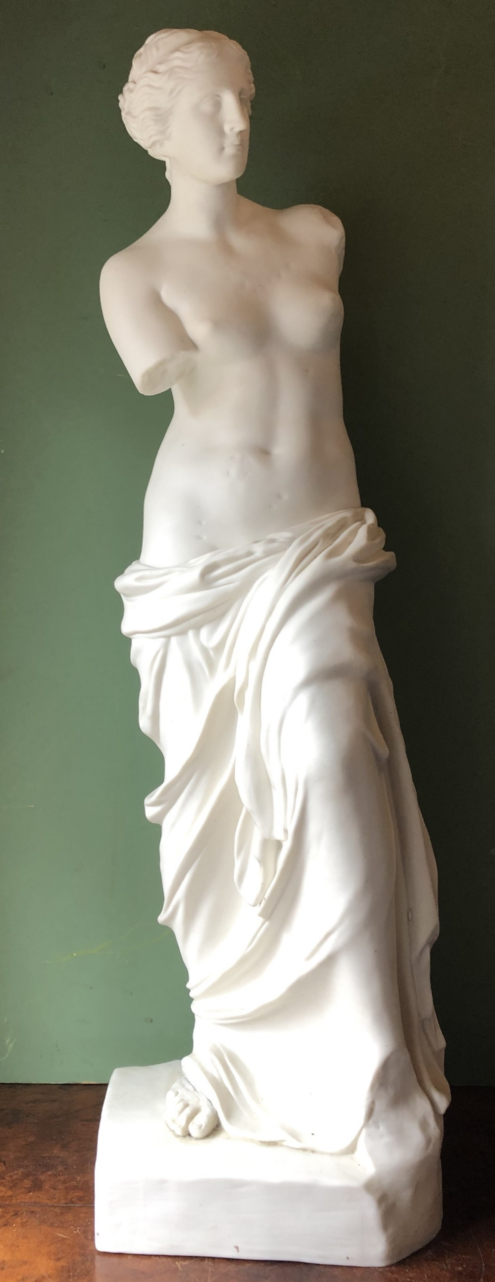 large scale c19th parianware porcelain copy of the venus de milo