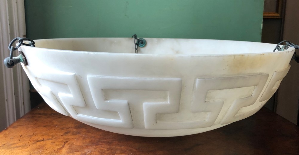 c19th italian carved alabaster lightshade bowl or plafonnier